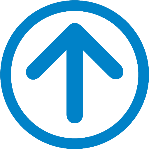 Up - Light Blue Up Arrow (600x598), Png Download