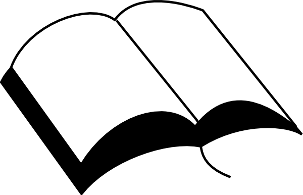 Open Book Silhouette Png Svg Free - Bible Silhouette (600x386), Png Download