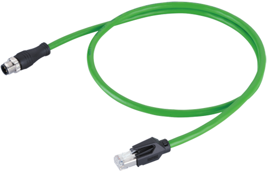 Download Ethernet Cable Plug M12 4pin D-code Male To Rj45