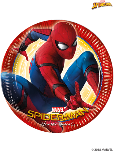 Download Spiderman Paper Plates Larger Photo Spiderman