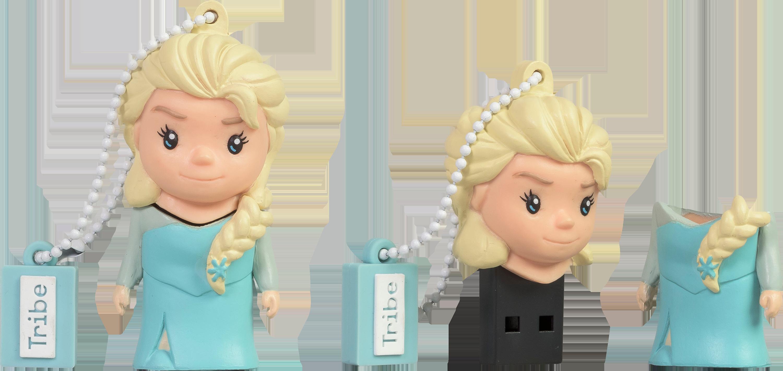 16gb Frozen Elsa Usb Drive - Tribe Frozen Elsa Usb Flash Drive - 8gb (3000x1421), Png Download