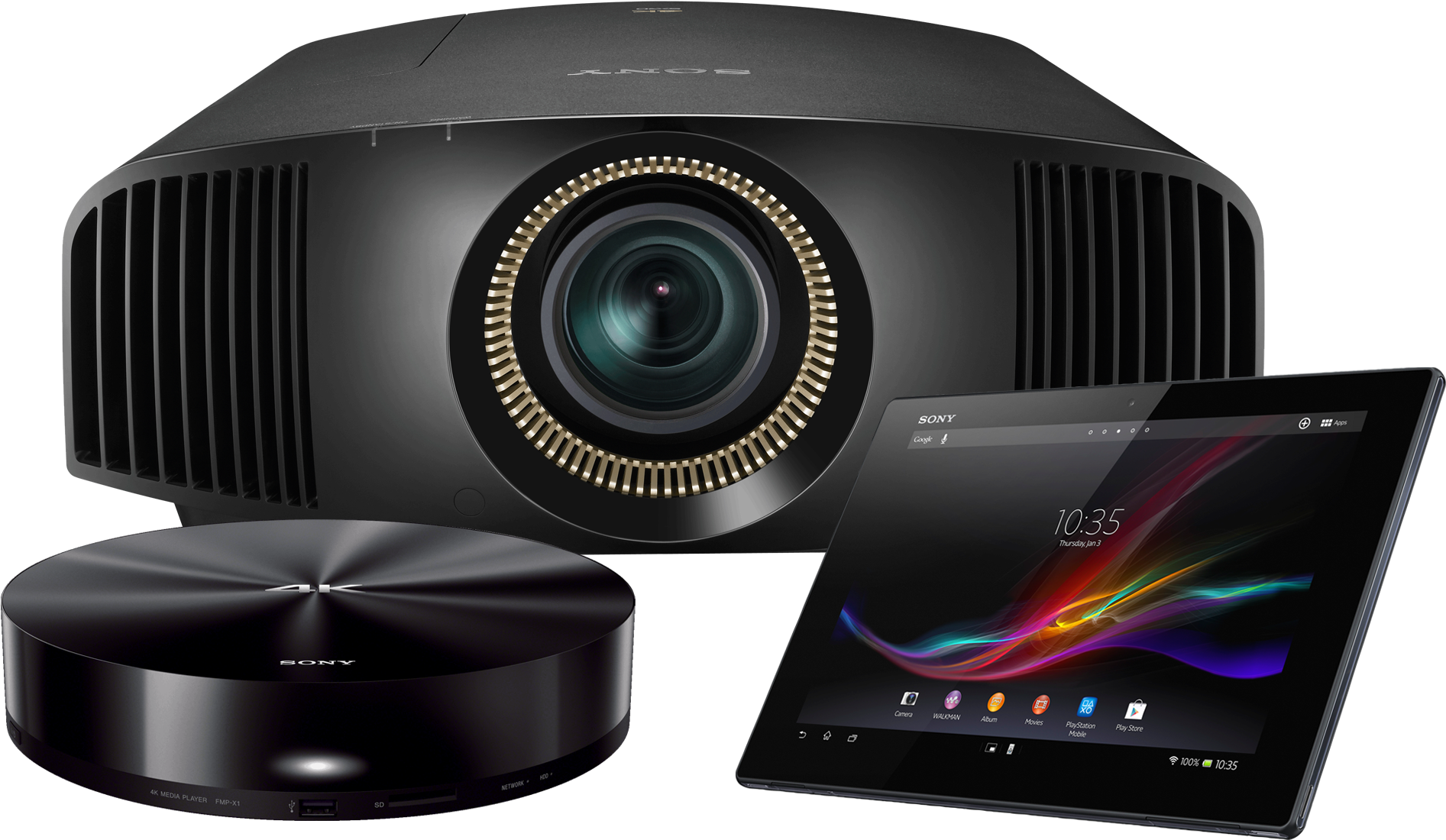 Download Sony Vplvw365es Native 4k Hdr 3d Sxrd Home Theater PNG ...