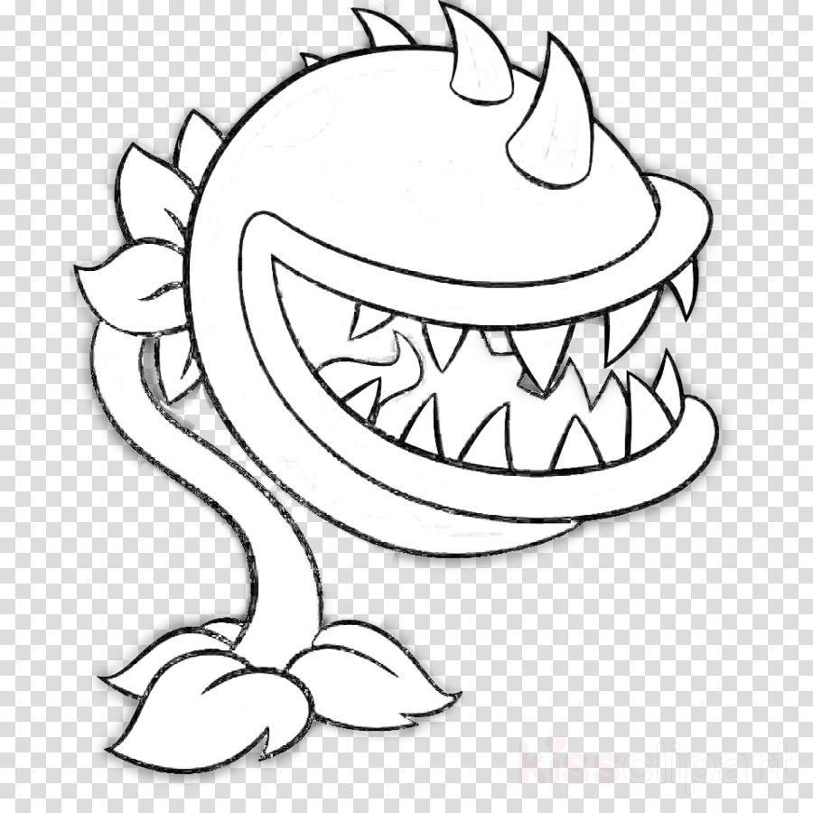 Download Plants Vs Zombies Chomper Coloring Pages Clipart Plants Plantas Vs Zombies Para Dibujar Png Image With No Background Pngkey Com