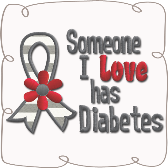 Someone I Love Has Diabetes (580x580), Png Download
