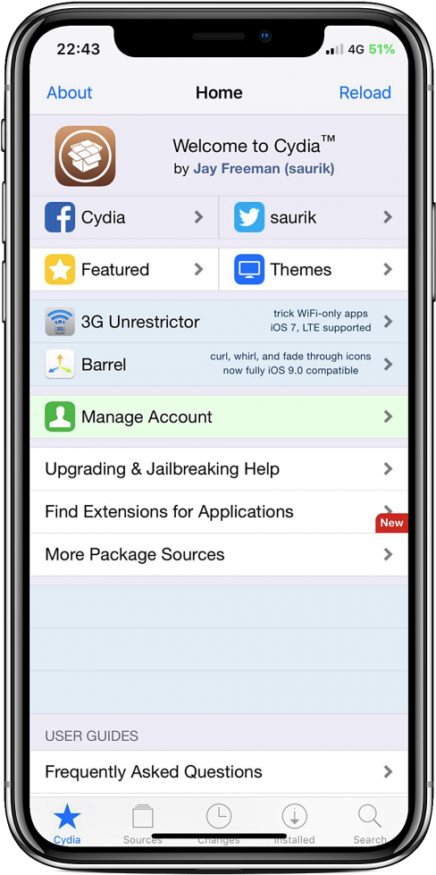 Download Cydia Features - Cydia App Store PNG Image with No