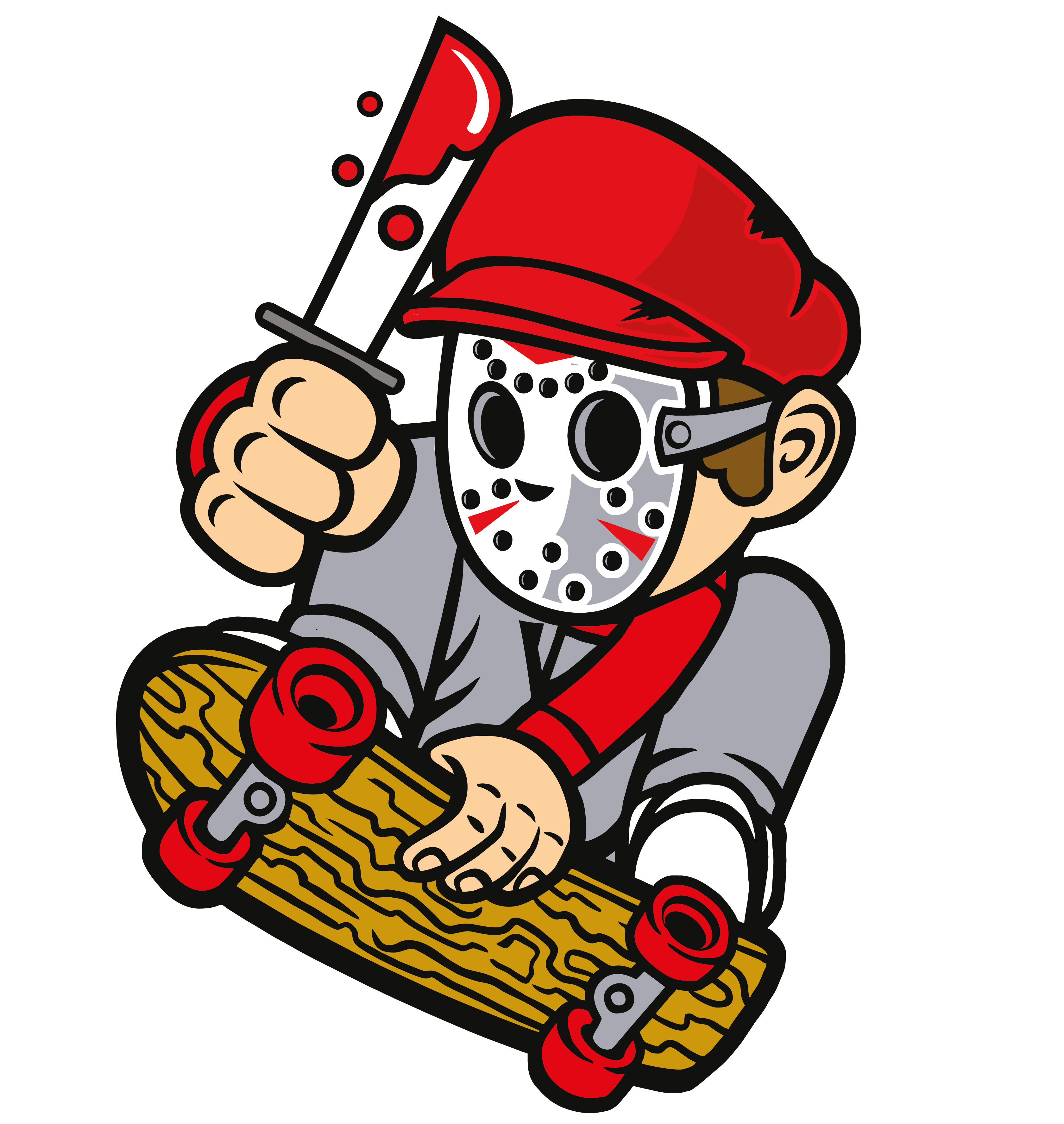 Download Killer Skater Classic Movie T Shirt Halloween
