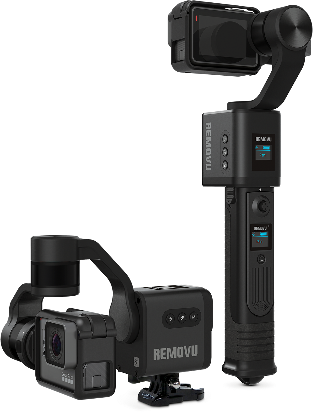 Removu S1 Is A 3-axis Gimbal For Gopro Camera - Gopro Hero 6 Gimbal (1600x1600), Png Download