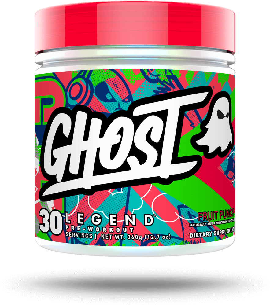 Ghost Legend Fruit Punch Pre Workout 30 Servings - Ghost Pre Workout Fruit Punch (1080x1080), Png Download