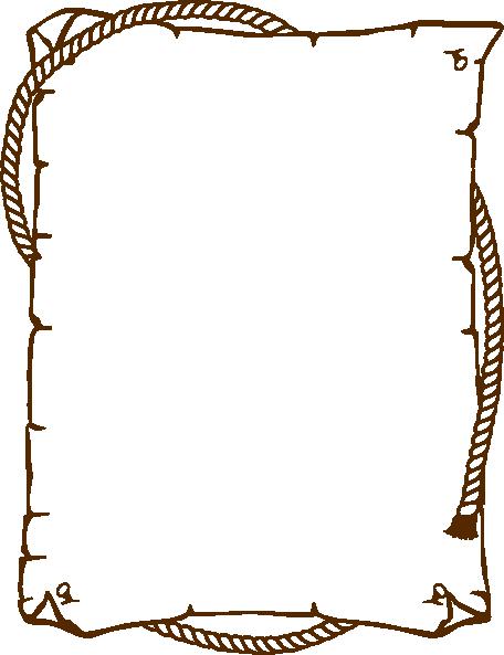 Brown Border Clip Art At Clker Com - Border Clip Art (362x479), Png Download