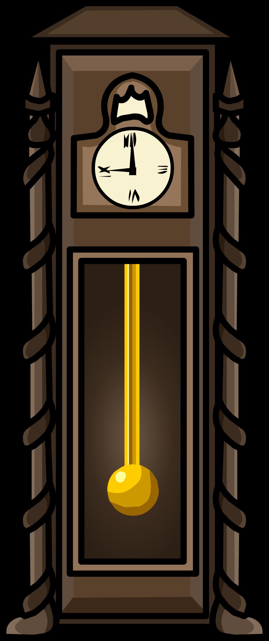Antique Clock Furniture Icon - Club Penguin Clock (907x2160), Png Download