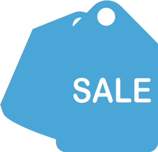 Sale Tag - Sale Png Icon Blue (750x750), Png Download