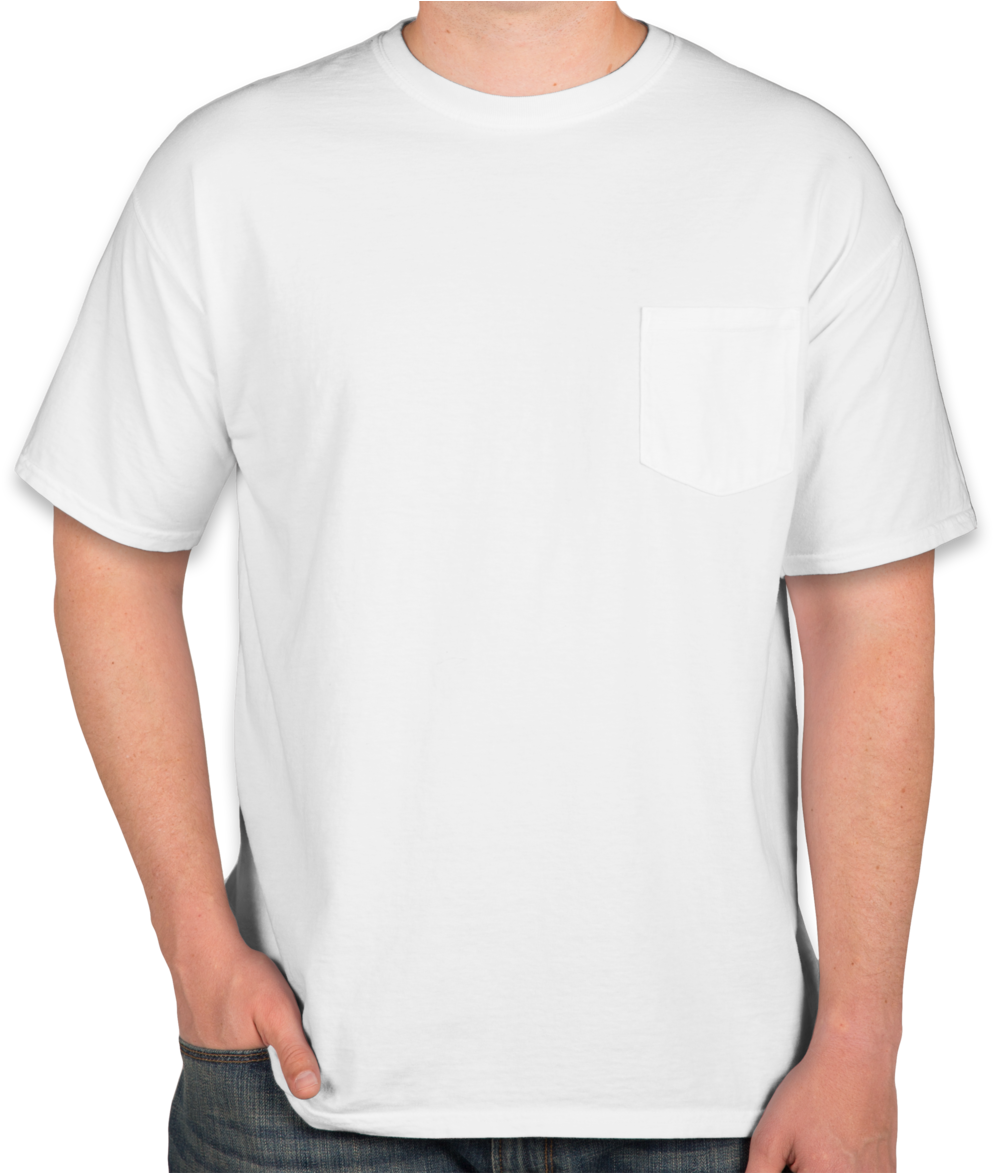 Download Custom Comfort Colors 100 Cotton Pocket T Shirt White T