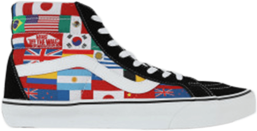 182327c658f708 Download Sk8-hi Reissue  international Flags  PNG Image with No ...