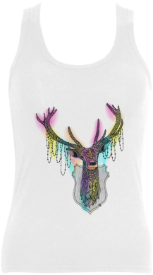 "Watercolor Deer Head, Ornate Animal Drawing Women's - Ornate Deer Tote Bag - 16"" X 16"" (500x500), Png Download"