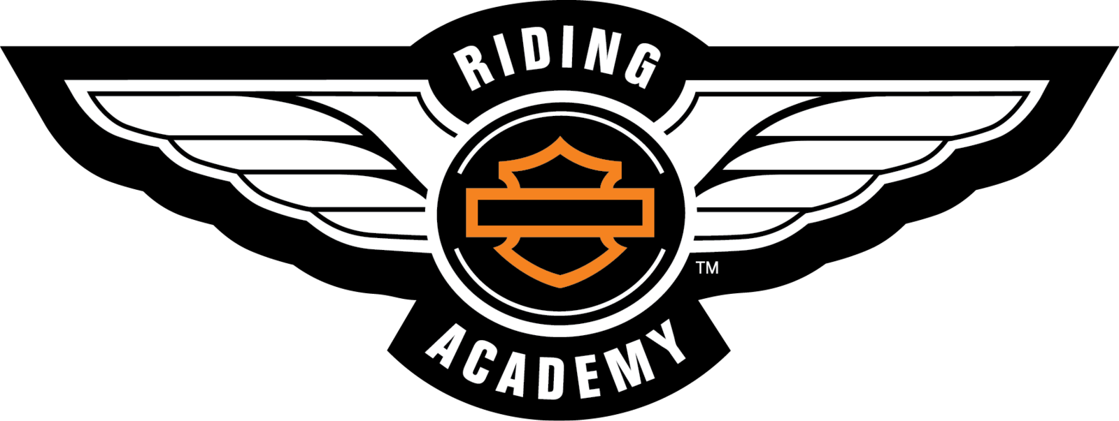 Harley Davidson Logo Riding Academy Png - Harley Davidson Riding Academy Logo (1600x603), Png Download