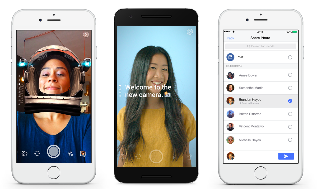 Facebook Tests Snapchat-style Camera Special Effects - Facebook Camera Filter (1345x799), Png Download