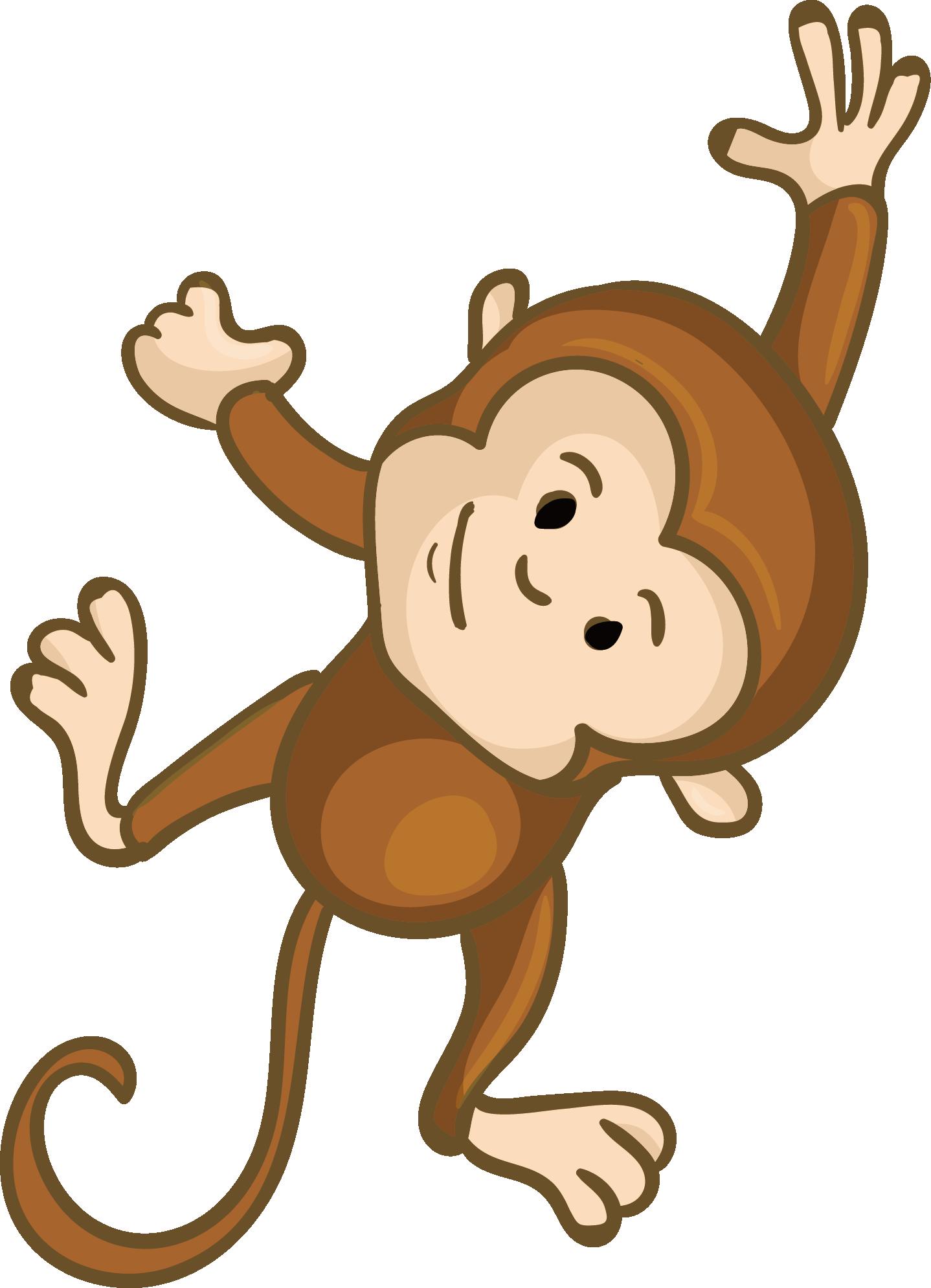 Download Monkey Clip Art Cute Monkey Cartoon Png Png Image