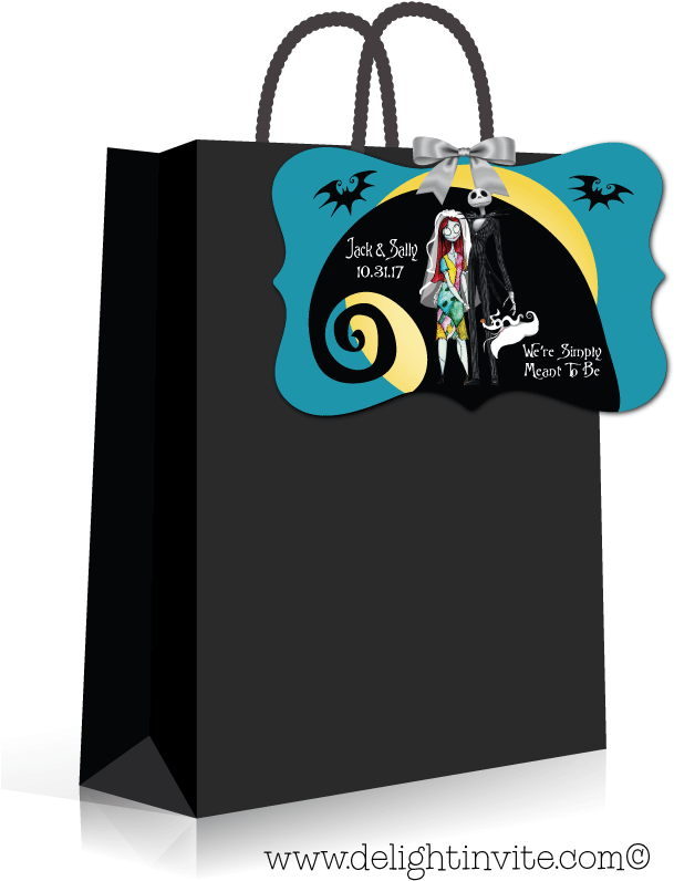 Download Nightmare Before Christmas Wedding Favor Tags