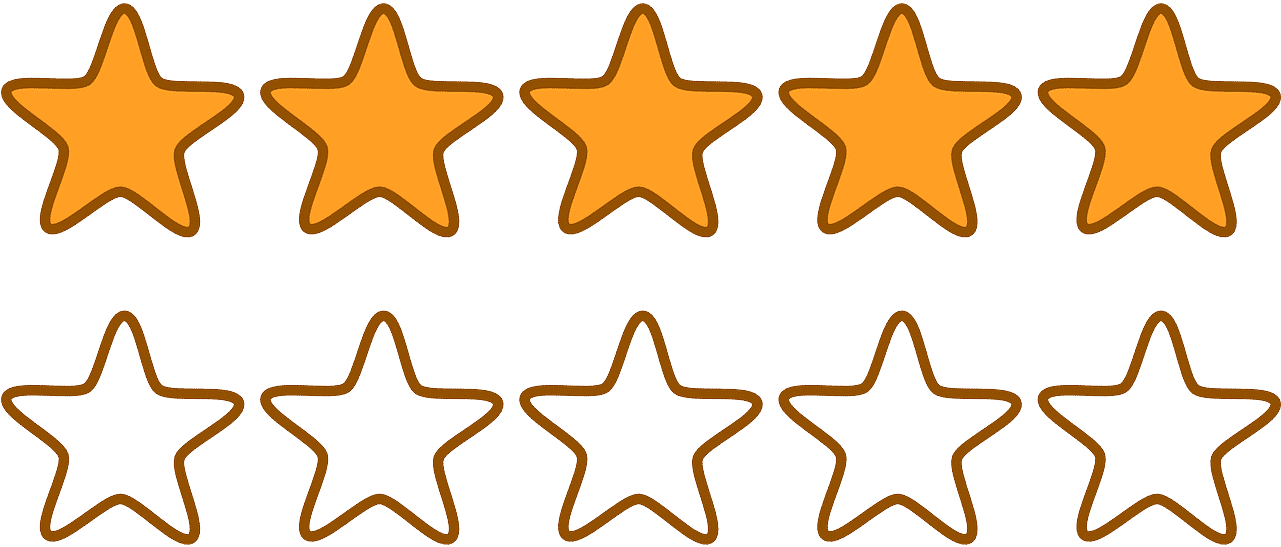 Freeuse Library 5 Stars Clipart - Five Stars Clip Art (600x254), Png Download
