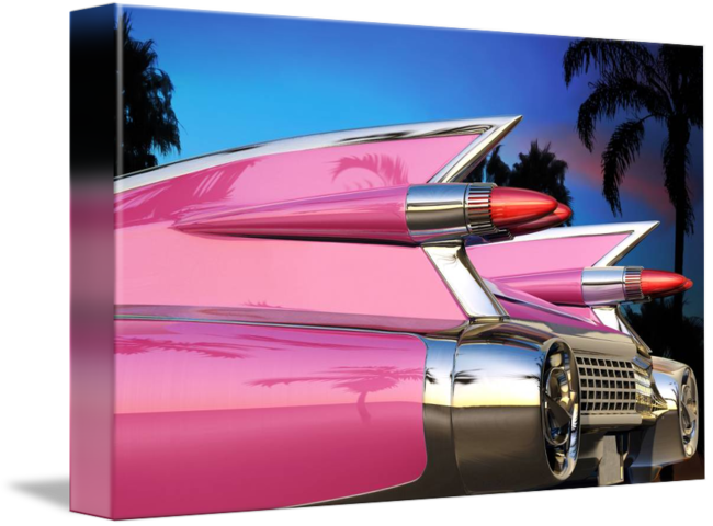 Pink Cadillac Png Vector Free Library - Library (650x480), Png Download