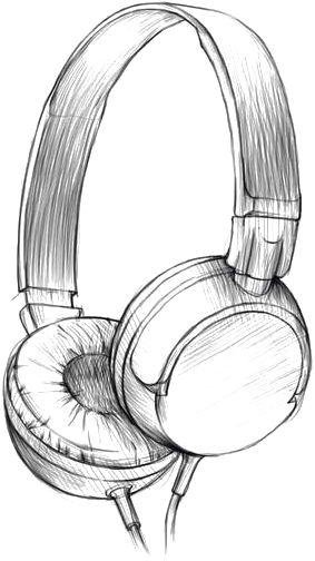 Download Drawing Headphones Watercolor Painting Pencil Sketch Headphones Pencil Drawing Png Image With No Background Pngkey Com