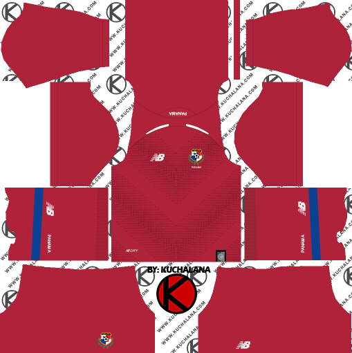 Panama Kits World Cup 2018 %2528home%2529 - Dream League Soccer Kits Psg 2019 (509x510), Png Download
