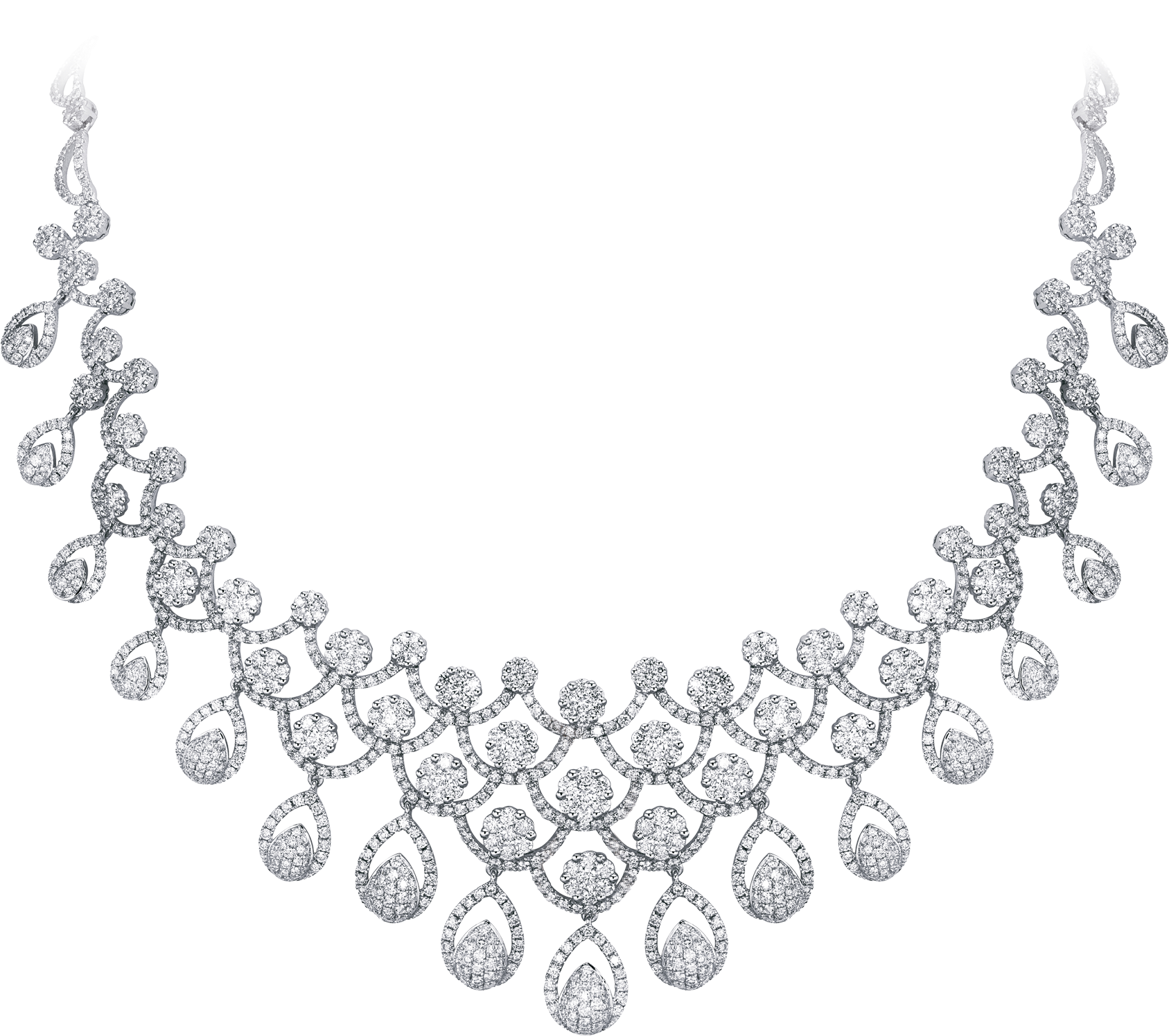 28 Collection Of Necklace Drawing Png - Cubic Zirconia (1791x1658), Png Download