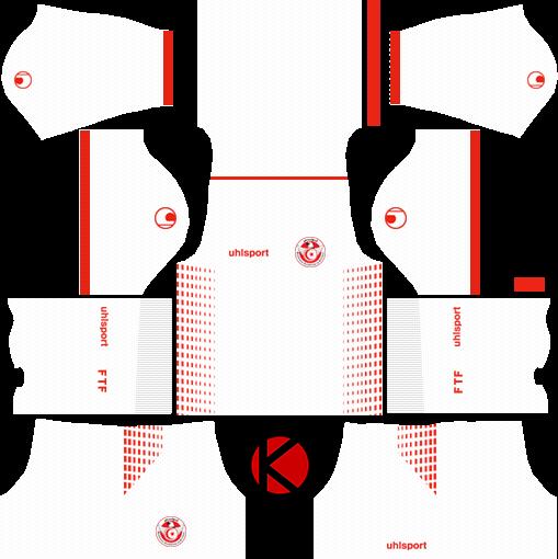 6a26cb22b42 Tunisia Puma Kits 2018 %2528home%2529 - Dream League Soccer Kit Italy 2018 (