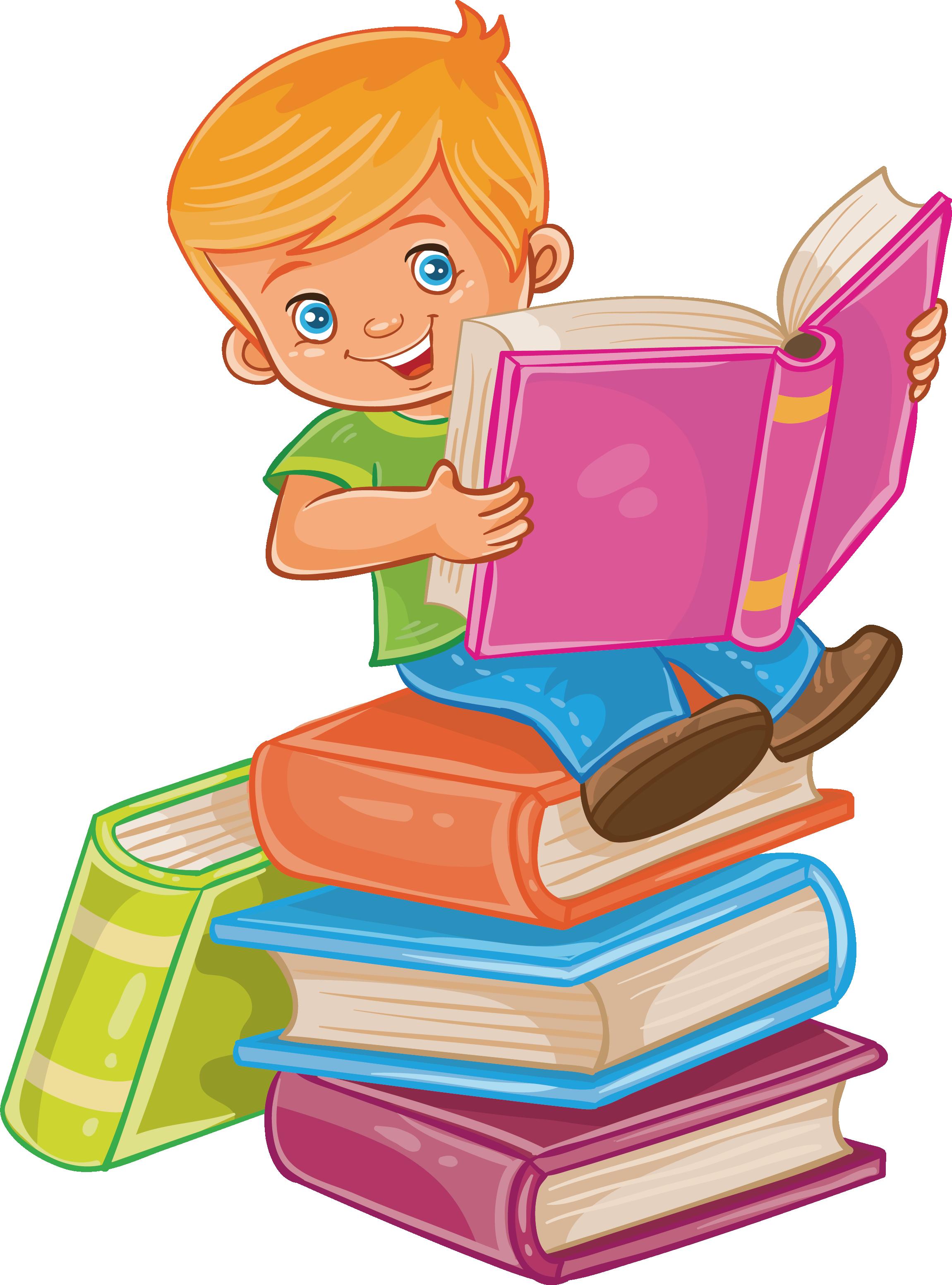 Мальчик с книжкой картинка, анимашки привет мой