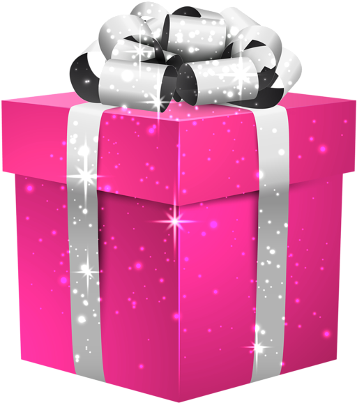 Download Present Gift Pink Neon Christmas Birthday Picsart