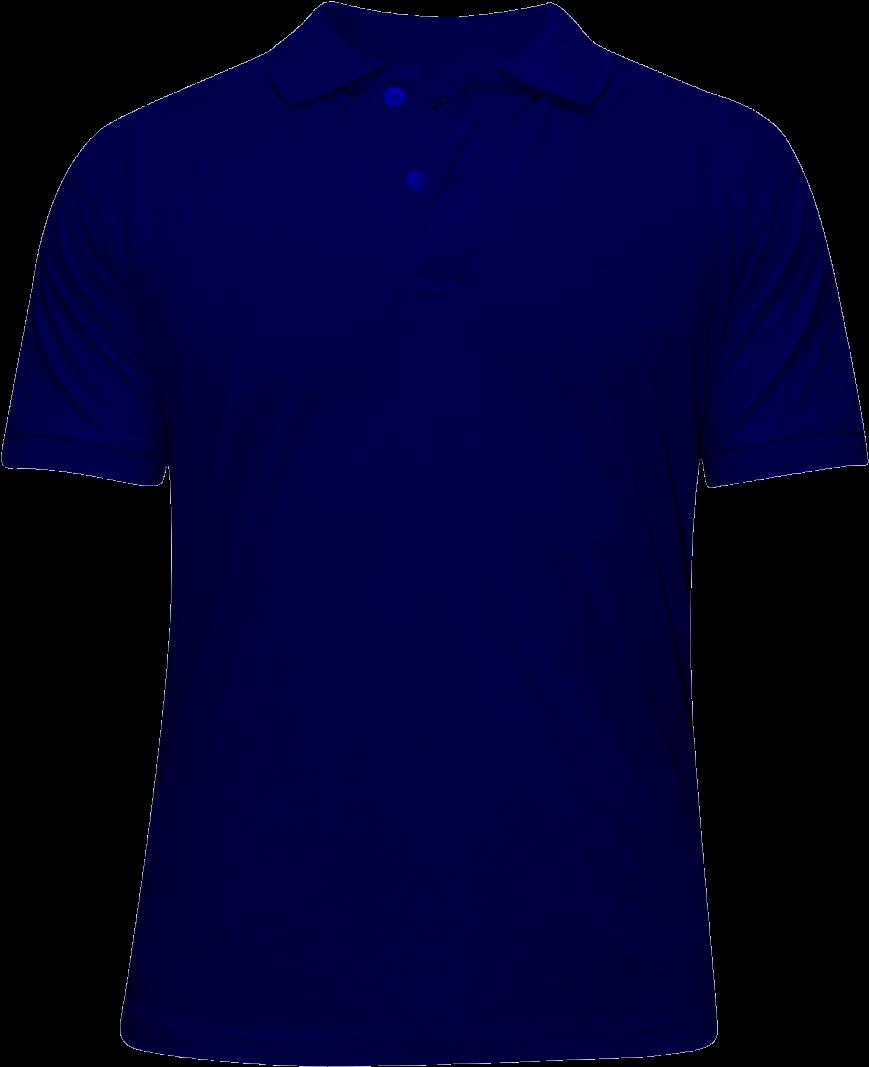 Navy Blue Polo Shirt Front And Back Template Büyüdüm çocuk