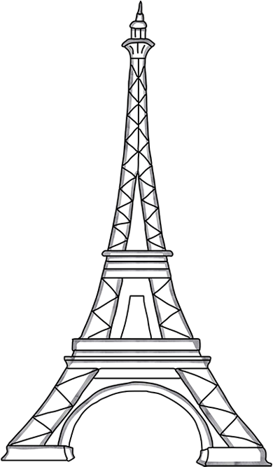 Download Eiffel Tower Template Cut Out 203144 - Steeple ...