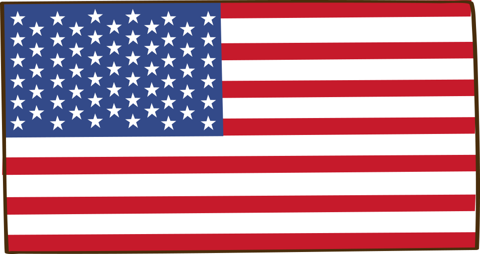 American Flag Cartoon - Night Vision American Flag (961x510), Png Download