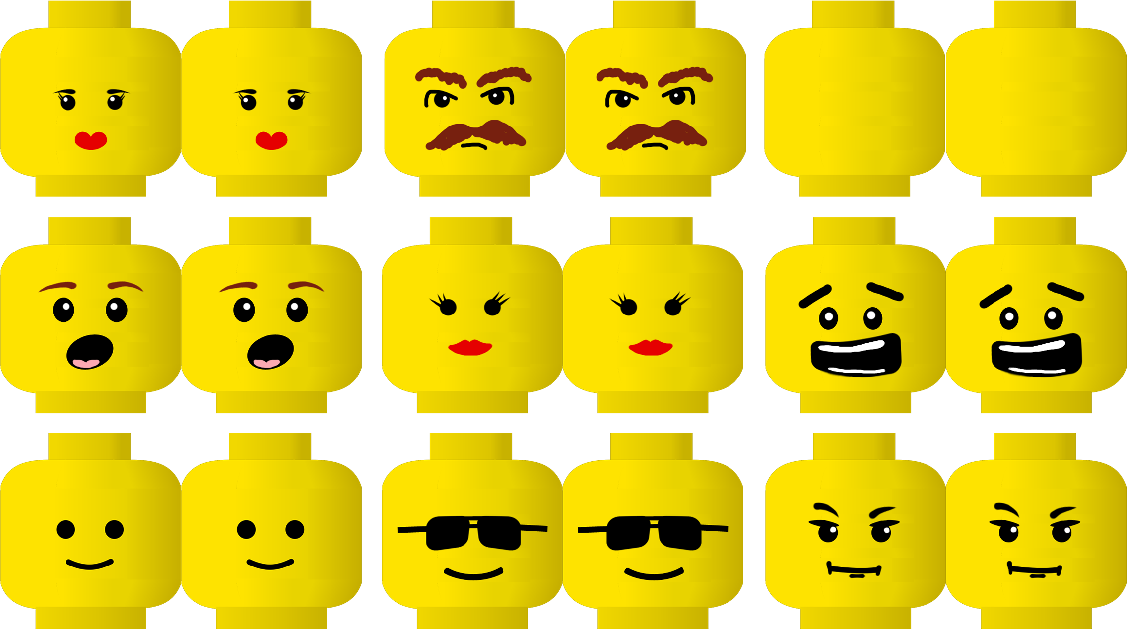 Download Lego Face Printable Free Lego Head Png Png Image