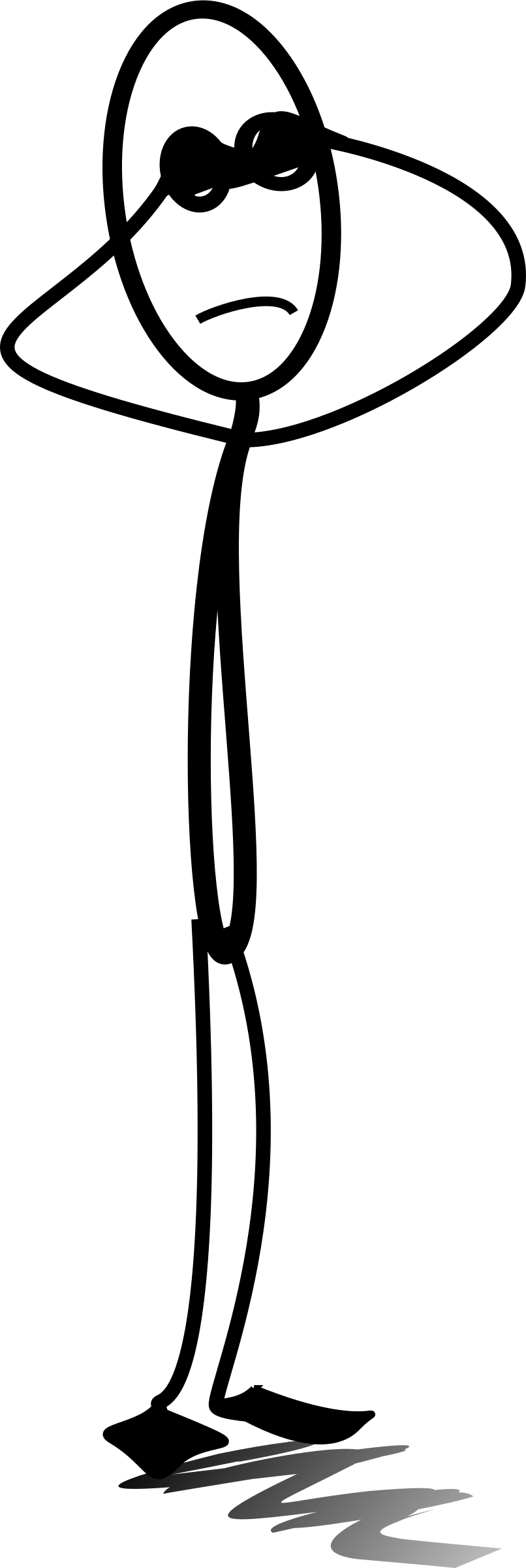 Big Image - Stick Figure Looking Up (806x2400), Png Download