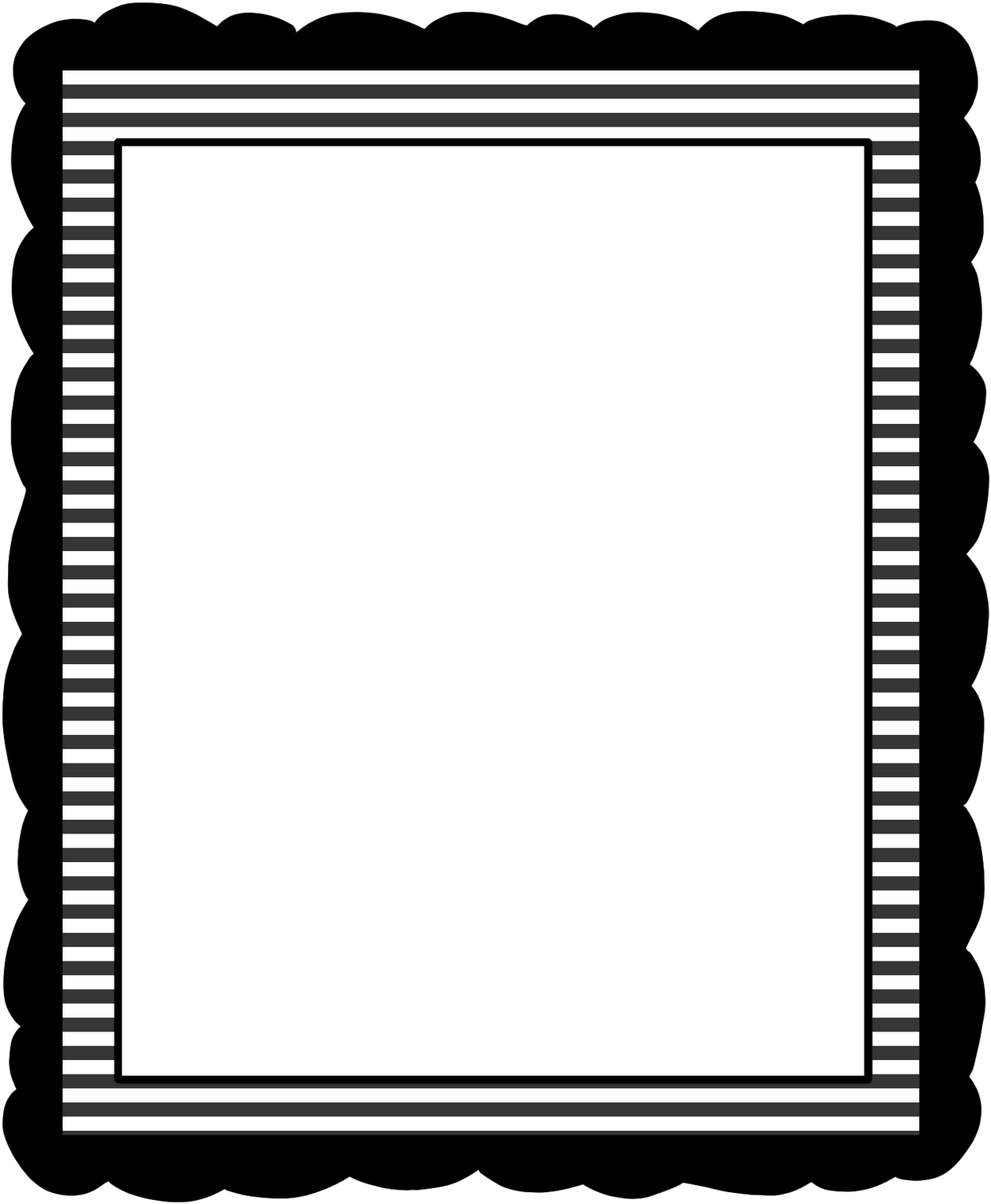 Download Black And White Borders Clipart My First Resume