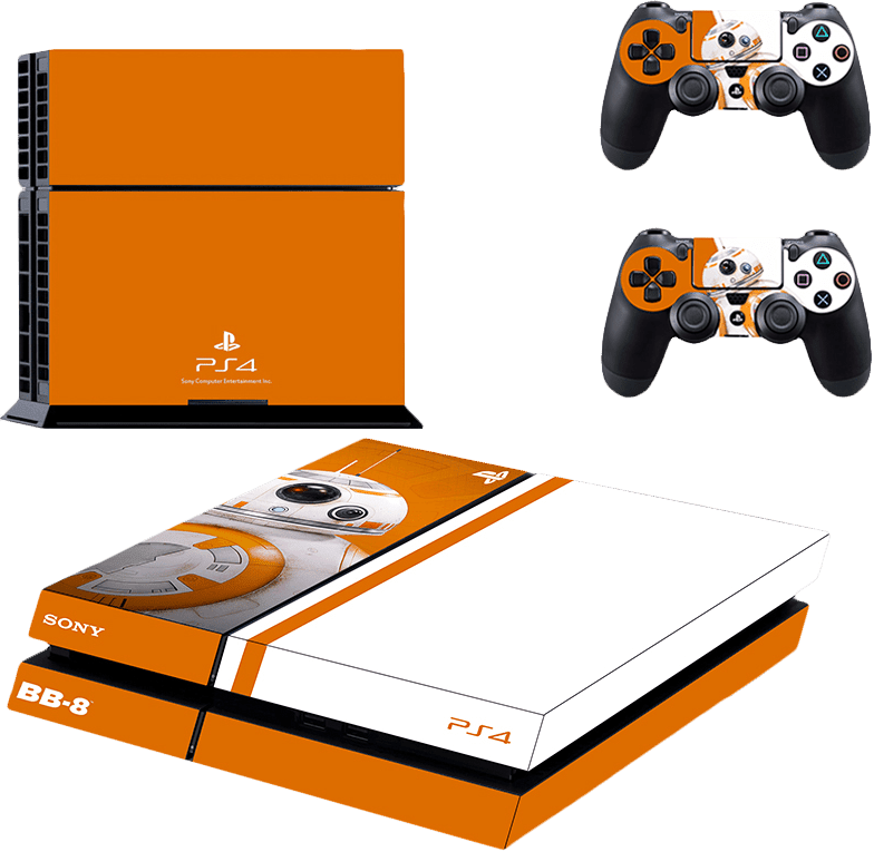 Playstation 4 Phat Decal / Skin / Vinyl - Playstation 4 Stickers Star Wars (784x765), Png Download