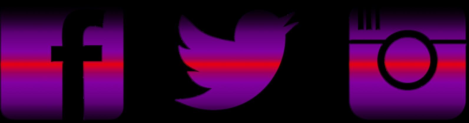 Clip Art Free Instagram Twitter Facebook Icons - Facebook Instagram Twitter Png (1600x454), Png Download