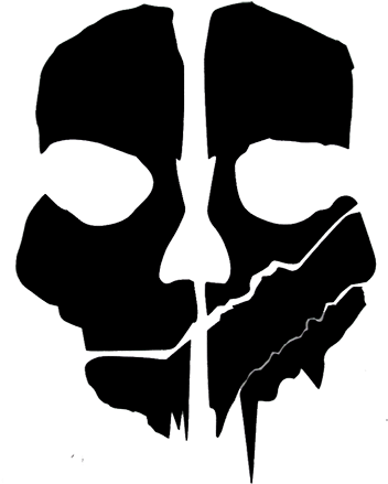 Call Of Duty Ghosts Logo Png - Cod Ghosts Mask Template (500x500), Png Download