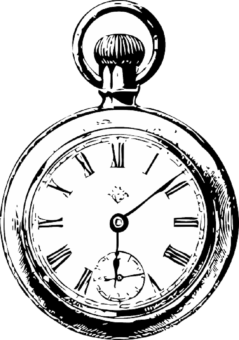 Download Old Black Outline Drawing Sketch Silhouette White Stop Watch Alice In Wonderland Png Image With No Background Pngkey Com