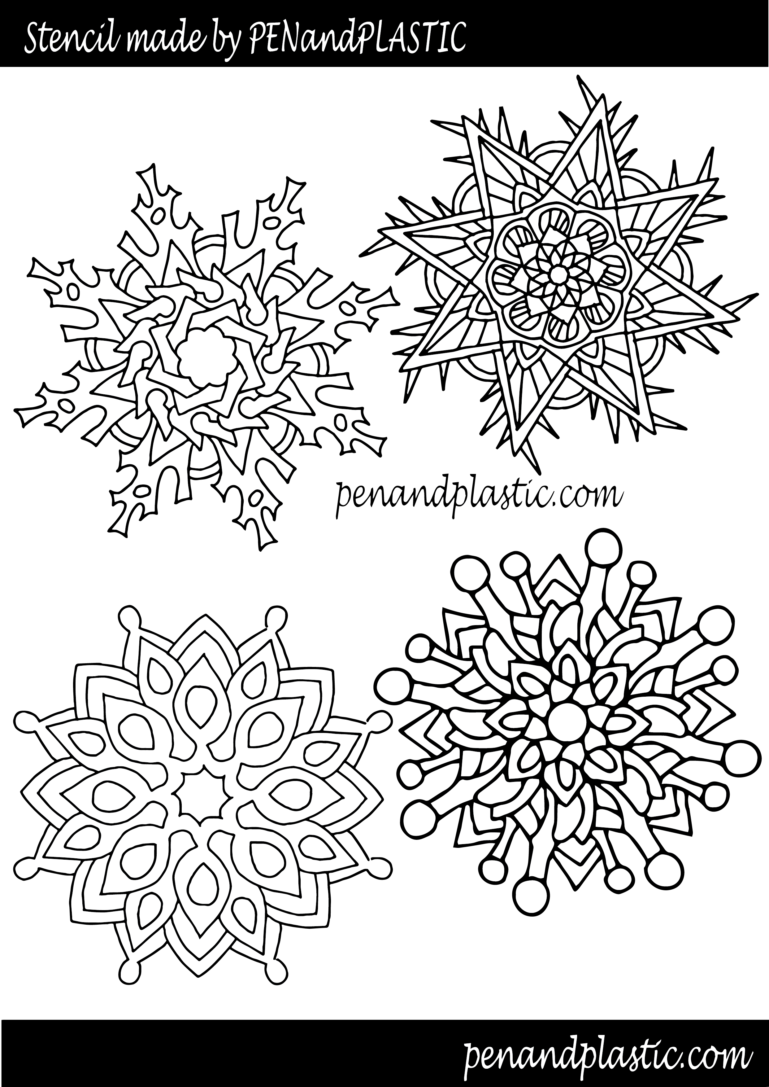 3d pen snowflake template  Download Snowflake Stencil - 6d Pen Templates Christmas PNG ...