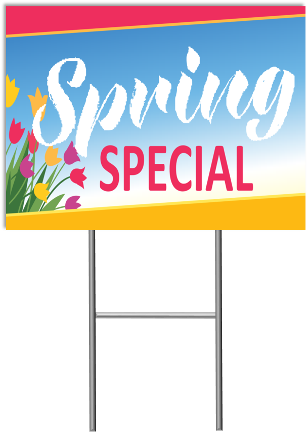 Spring Special Yard Sign - Spring Fit Mattress (609x861), Png Download