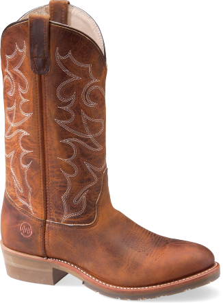 """Double-h Dh1552 12"""" Domestic Work Western Cowboy Boots - Double H Men's 12"""" Gel Ice Work Western Safety Toe,brown (326x442), Png Download"""
