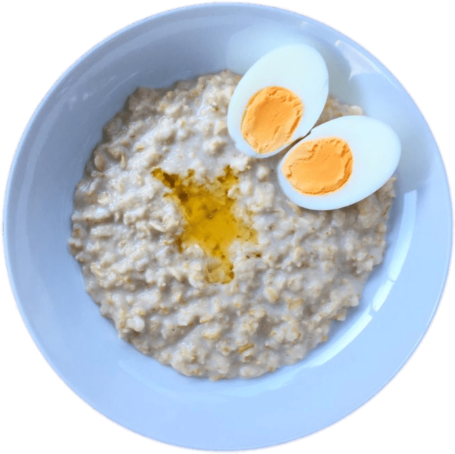 Download - Porridge And Boiled Egg (720x720), Png Download