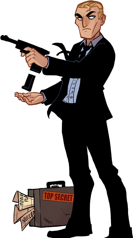 Download James Bond Clipart Hitman Cartoon Png Image With