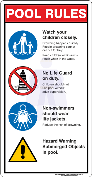 Download Pool Rules Sign - Safety Signs In Swimming Pool PNG Image ...