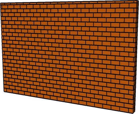 Top Images For 3d Png Transparent Broken Brick Wall - Brick Wall Png 3d (484x398), Png Download