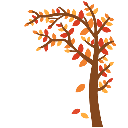 Graphic Transparent Download Svg Cutting File For Scrapbooking - Fall Tree Clipart (432x432), Png Download