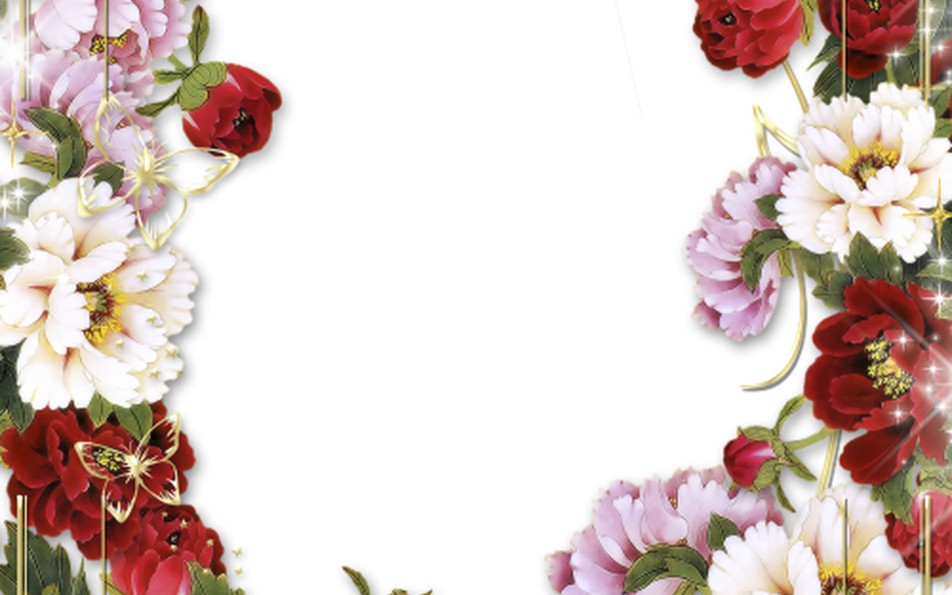 Download Pinterest Flower Hd Floral Border Free Png Image With