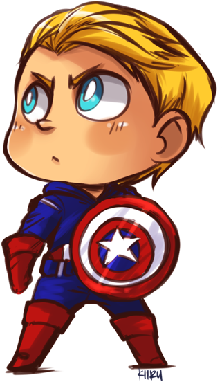Download Captain America By Kiirusama Cute Captain America Cartoon Png Image With No Background Pngkey Com